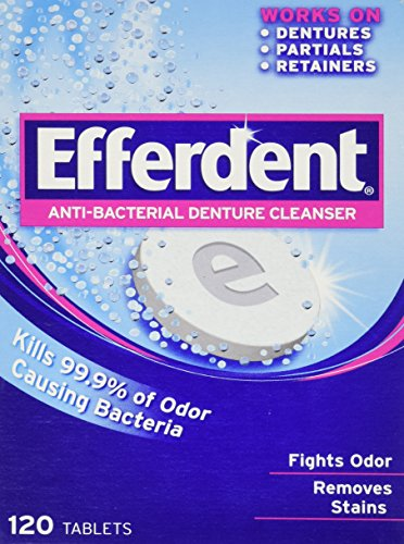 Efferdent Anti-Bacterial Denture Cleanser-120 Count (Denture Cleaners compare prices)