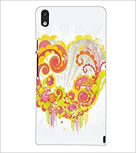 PrintDhaba Heart D-5313 Back Case Cover for HUAWEI ASCEND P6 (Multi-Coloured)
