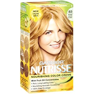 Garnier Nutrisse Haircolor, 83 Medium Golden Blonde Cream Soda
