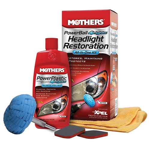 MOTHERS 7250-6 PowerBall 4Lights Headlight Restoration Kit, (Pack of 6)