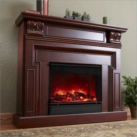 Kristine Indoor Electric Fireplace in Mahogany picture B0062957YW.jpg