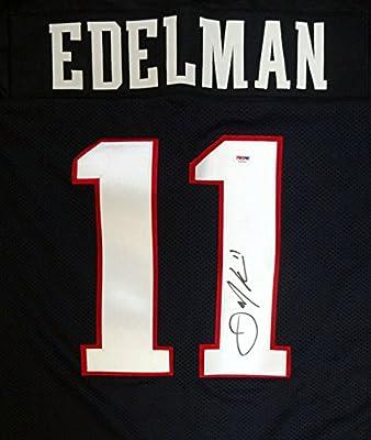 Julian Edelman Autographed New England Patriots Blue Jersey PSA/DNA