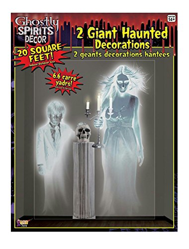 Ghostly Spirits Giant Wall Haunted House Halloween Ghost Decor (Womens Ghostly Wig)