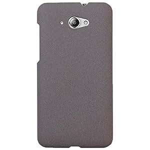 Heartly Sandstone Matte Finish Thin Hard Bumper Back Case Cover For Lenovo S930 - Retro Grey