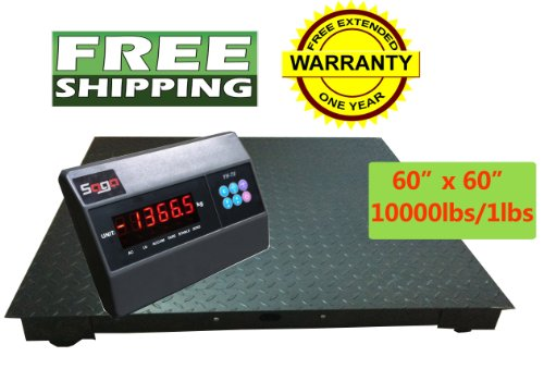 Saga floor scale 5 5 60 x60 10000 lbs capacity for 10000 lb floor scale
