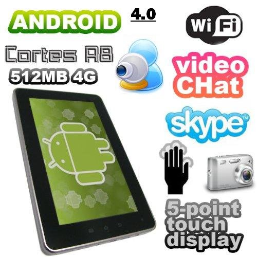 Elsse (TM) 7 5-point capacitive screen TABLET PC ANDROID 4.0 - 2160p hdmi 512MB 4GB Camera WIFI