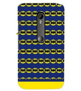 PrintDhaba Bat Pattern D-1545 Back Case Cover for MOTOROLA MOTO G3 (Multi-Coloured)