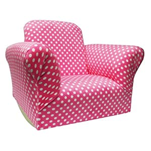 Pink Polka dotted Rocker Rocker Chair Childrens Chairs Kids Furniture Kids Chairs Kids Bedroom Childrens Furniture from Terra