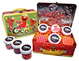 Elmo Cupcake Kit in Collectible Tin #2 by Crispie Sweets - Sprinkles and Baking Cups Set