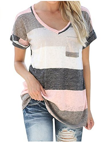Women's V-neck Casual Short /Long Sleeve T-shirt Blouse Tees Tops (Lil Roughneck compare prices)