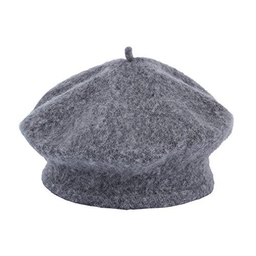 (ラボーグ) La vogue カジュアル ベビー ベレー帽 キッズ用 子供ハット 折り返しキャップ 女の子帽子 0-7歳のキッズに対応 お出かけ グレー