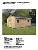 12' X 16' Saltbox Style Storage Shed Project Plans -Design #71216