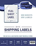 "Full Sheet shipping Label - by Jayzi® - 8.5"" x 11"" (Same size as Avery® 5165) (100 Sheets)"