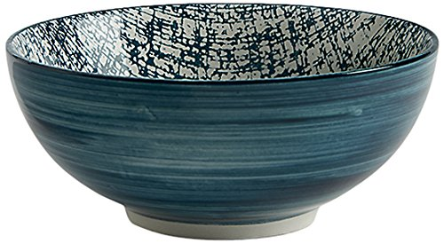 Fill 21346 Set 4 Ciotole in Stoneware, Collezione Althea, Juta Petrolio