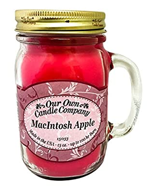 MacIntosh Apple Scented 13 Ounce Mason Jar Candle By Our Own Candle Company