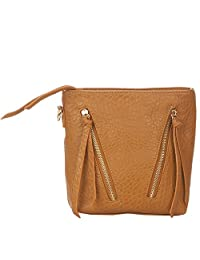 Vero Couture Brown Textured Sling Bag