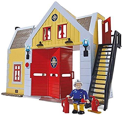 Giochi Preziosi - Sam Il Pompiere: Caserma dei Pompieri con Luci e Suoni, Alta 30 cm