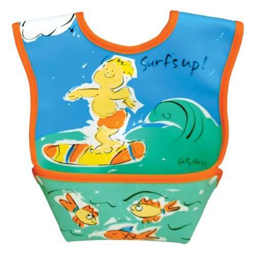 Dex Baby Dura Bib - Stage 1 - Small 3 - 12 Months (Surfs Up) - 1