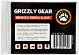 "Emergency Thermal Blankets - Grizzly Gear - Folds to 52"" X 84"""