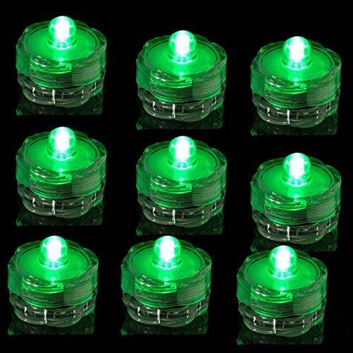 Tdltek Submersible Led Lights - Tea Lights - For Wedding ,Special Events, 120 Pack Green
