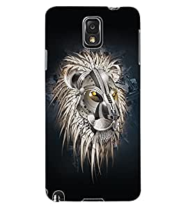 ColourCraft Lion Look Design Back Case Cover for SAMSUNG GALAXY NOTE 3