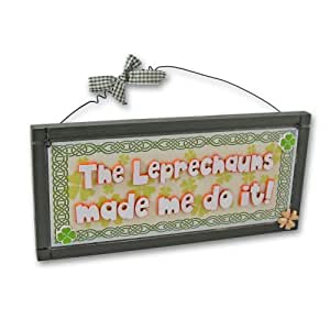 Heartwarmers plaque murale irlandaise amusante leprechauns for Plaques murales cuisine