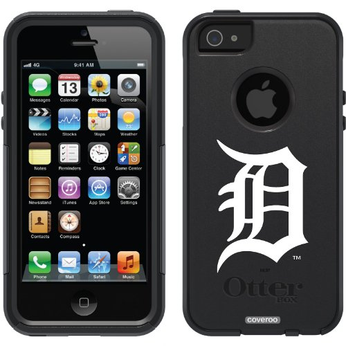 Best Price Detroit Tigers - D White design on a Black OtterBox® Commuter Series® Case for iPhone 5s / 5