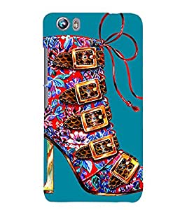 MULTICOLOURED ARTISTIC FLORAL PRINTED HIGH HEEL BALLERINA SHOE 3D Hard Polycarbonate Designer Back Case Cover for Micromax Canvas Fire 4 A107