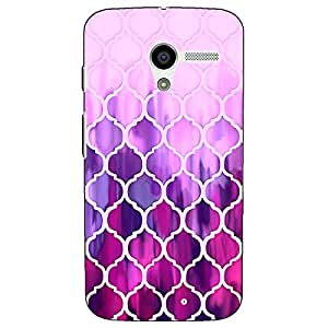 Jugaaduu Pink Magenta Moroccan Tiles Pattern Back Cover Case For Moto X (1st Gen)