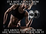 Fitness Model Poster Female Bodybuilder Workout Motivation 18x24 (SGV23)