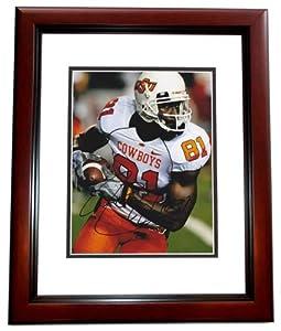 Justin Blackmon Autographed Hand Signed Oklahoma State Cowboys 8x10 Photo MAHOGANY... by Real Deal Memorabilia