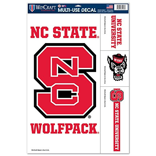 North Carolina State Wolfpack 11'' x 17'' Ultra Decals (North Carolina Tire Cover compare prices)