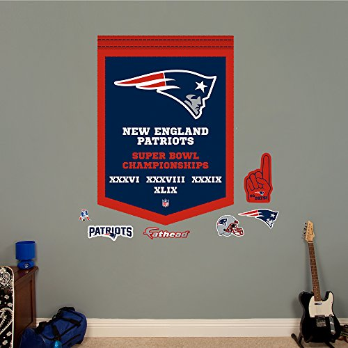 NFL New England Patriots Super Bowl Champions Banner Big Wall Decal (Patriots Banner Champions compare prices)