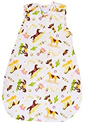 Baby Sleeping Bag with Horse Pattern, 1 TOG Summer Model (Medium (10 - 24 mos))