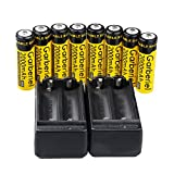 Garberiel 18650 3.7V Battery Rechargeable Battery For LED Flashlight Headlamp Torch With Charger