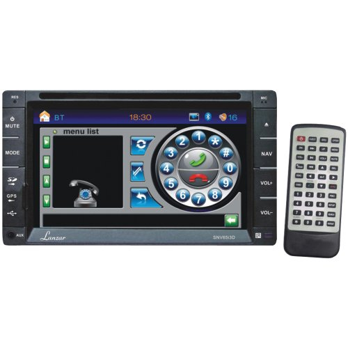 Lanzar SNV65I3D 2 x DIN In Dash Touchscreen LCD