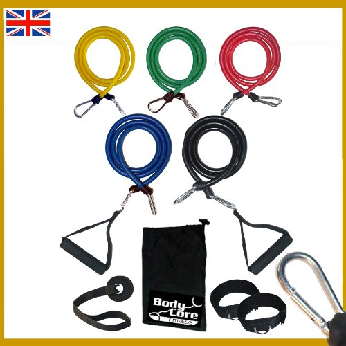 Resistance Bands Set | Exercise Bands | Home Gym Fitness Equipment | Workout Bands | Exercise Equipment for Pilates Yoga Core Training
