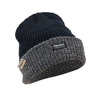 FLOSO - Bonnet thermique Thinsulate (3M 40g) - Adulte unisexe (Taille unique) (Noir/Gris)