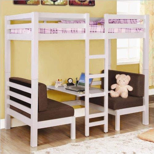 Loft Bed Over Desk 3548 front