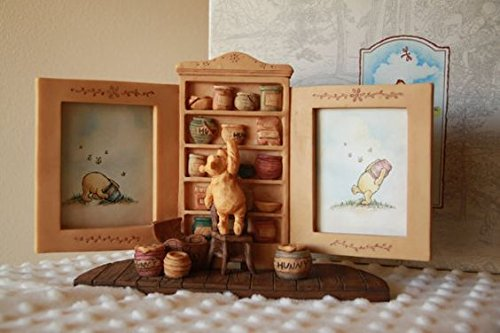 "Disney Classic Pooh Double Picture Frame ""Honey Cupboard"" - 1"