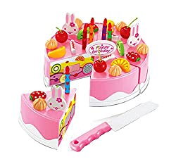 Lovely House Play Toys Kids Toys Games Simulated Birthday Cake Pink