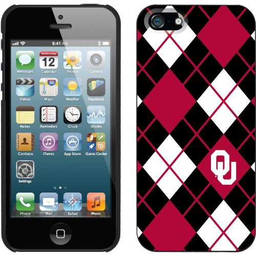 Best Price Oklahoma Argyle design on a Black iPhone 5s / 5 Thinshield Snap-On Case by Coveroo
