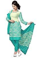 Vaamsi Women's A-Line Salwar Suite Dress Material (CRYSTAL1024 _BLUE _FreeSize)