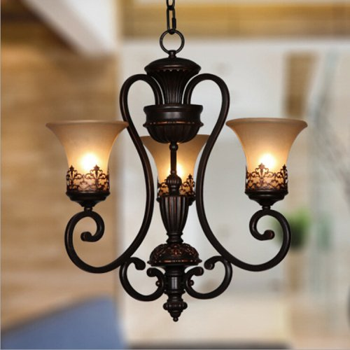 LightInTheBox Country Vintage Chandeliers Candle Style Ceiling Lighting Fixture Painting Finish Pendent Light E26/E27 Flush Mount 110-120V 1