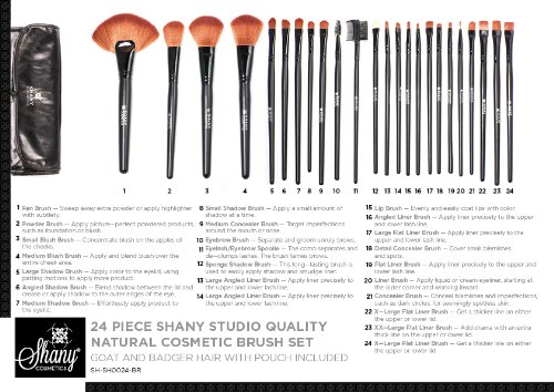 SHANY Studio Quality Natural Cosmetic Brush Set with Faux ...