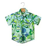 NeedyBee Kids Dress Half Sleeves Multi Color Floral Hawaiian Printed Pure Cotton Baby Boys Shirts for 1 - 5 Years