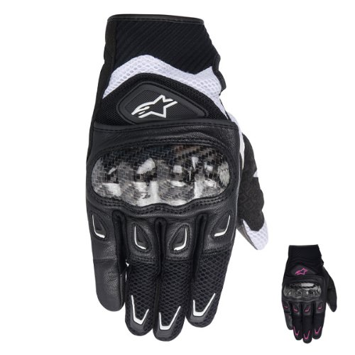 ALPINESTARS - Gants Stella S-MX 2 Air Carbon Noir-Rose