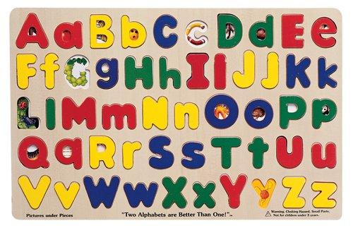Melissa and Doug Upper & Lower Case Alphabet - Buy Melissa and Doug Upper & Lower Case Alphabet - Purchase Melissa and Doug Upper & Lower Case Alphabet (Melissa & Doug, Toys & Games,Categories,Preschool,Pre-Kindergarten Toys,Puzzles)
