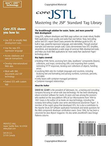 Core JSTL:Mastering the JSP Standard Tag Library (Java 2 Platform, Enterprise Edition Series)