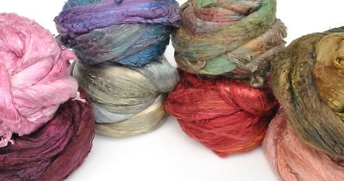 Mulbery-Silk-Tops-8-Colour-Mixes-For-Felting-and-Spinning